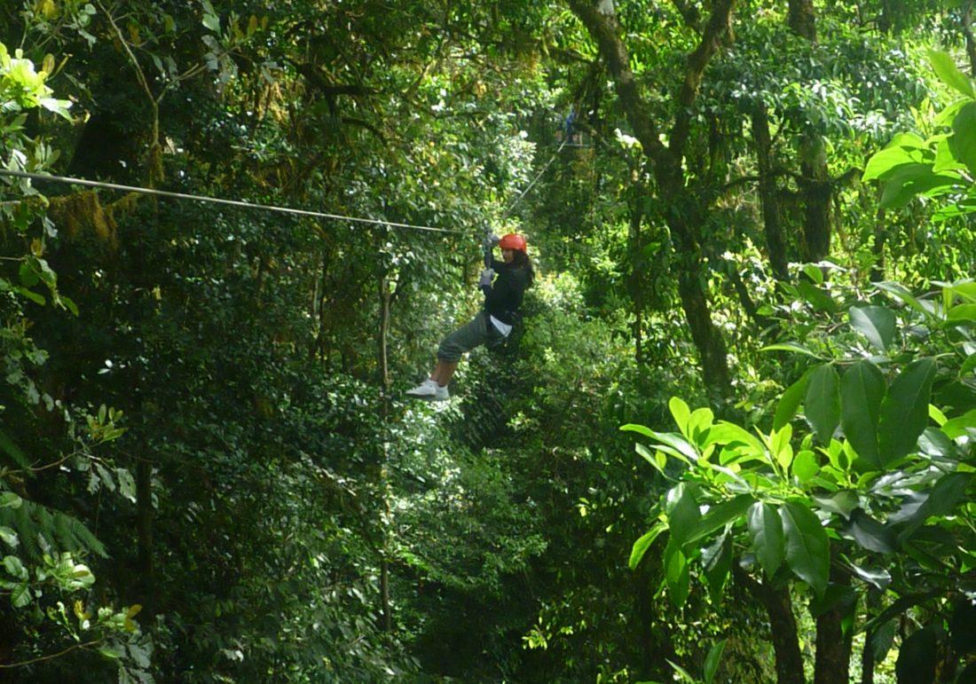 Costa Rica, Monteverde, Ziplining