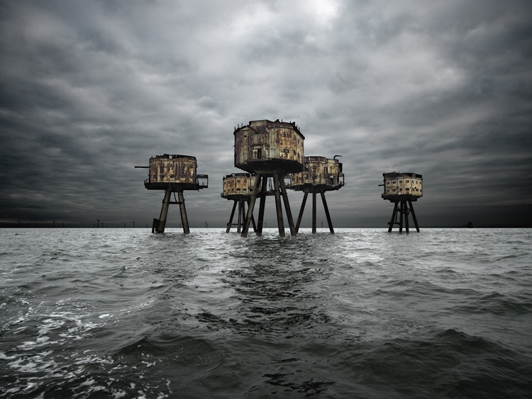 Maunsell Forts in the Thames Estuary