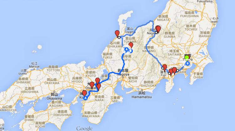 Japan karta 1