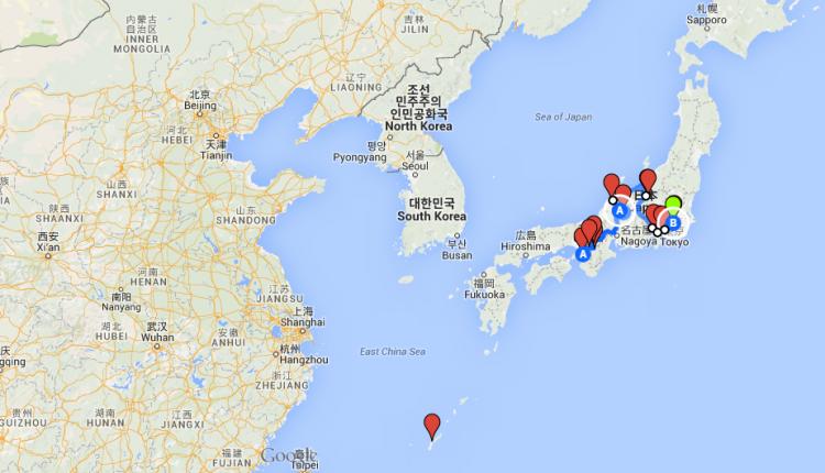 Japan karta 2
