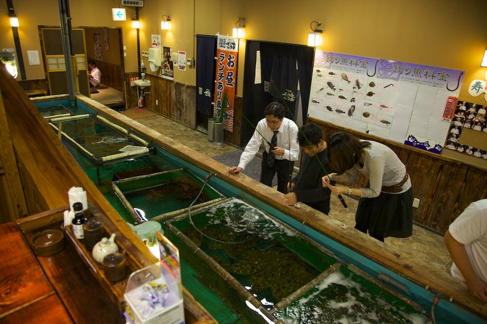 Restauranger Tokyo, Fiska