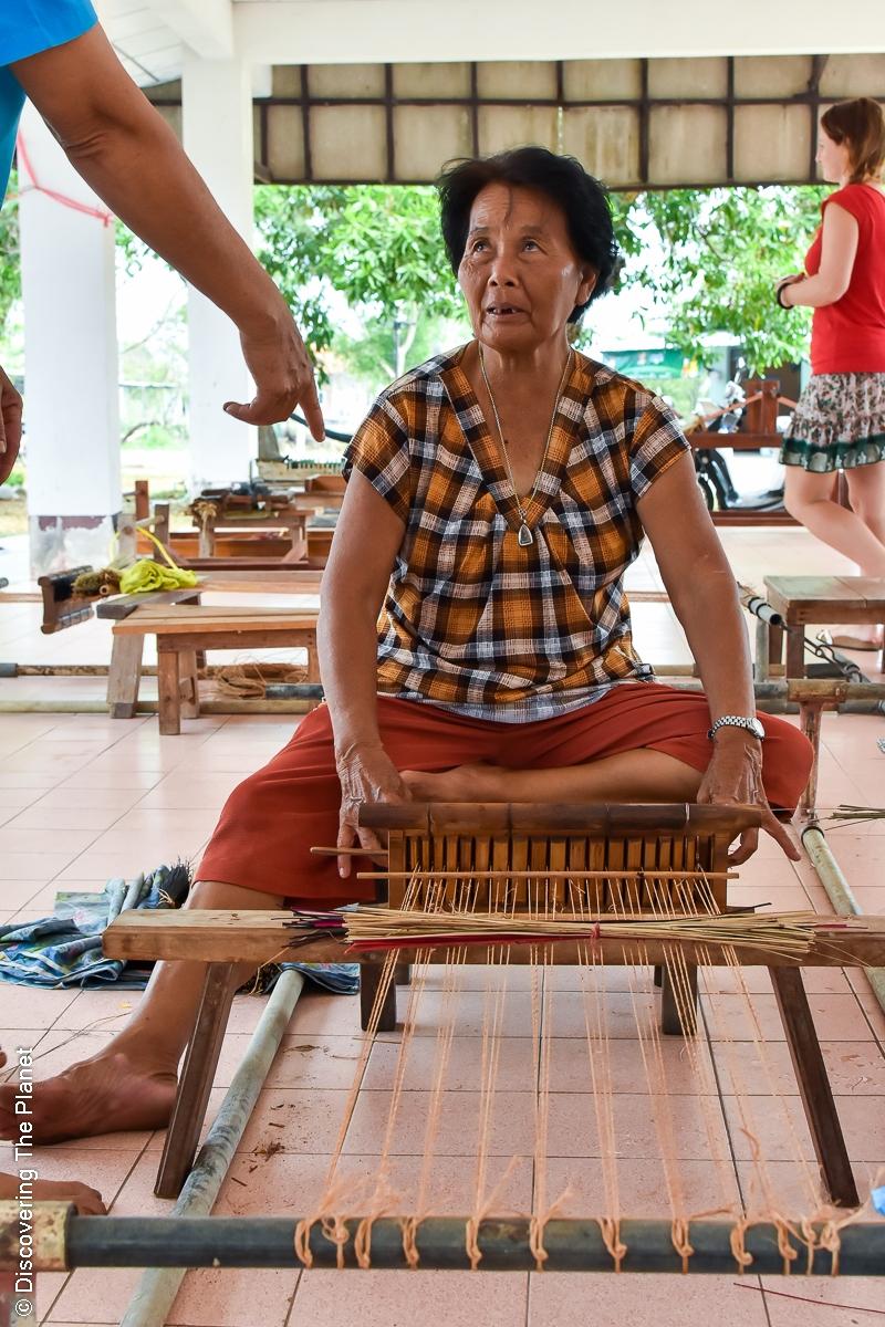 Thailand, Chantaburi, Mattvävning (11)