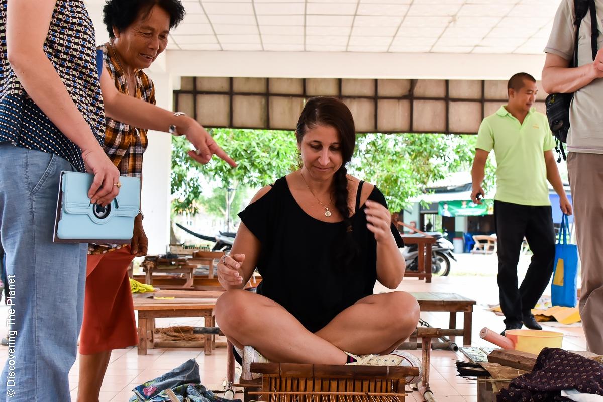 Thailand, Chantaburi, Mattvävning (13)
