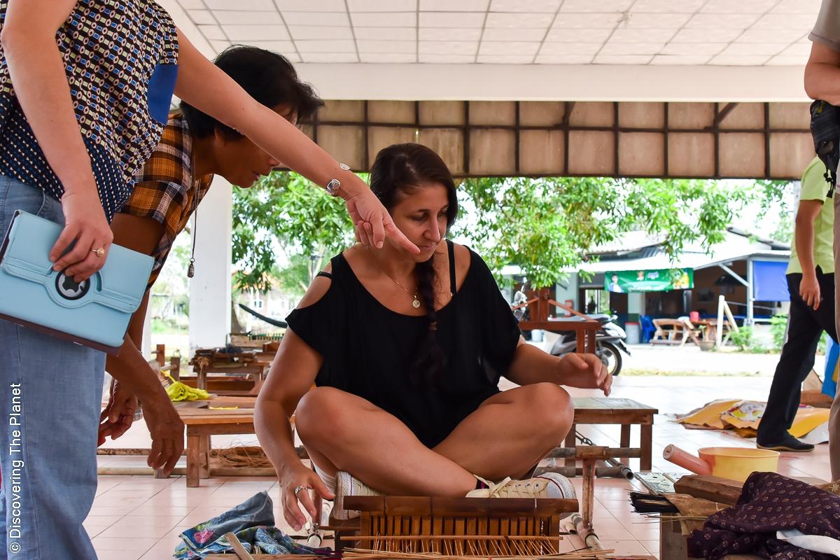 Thailand, Chantaburi, Mattvävning (14)