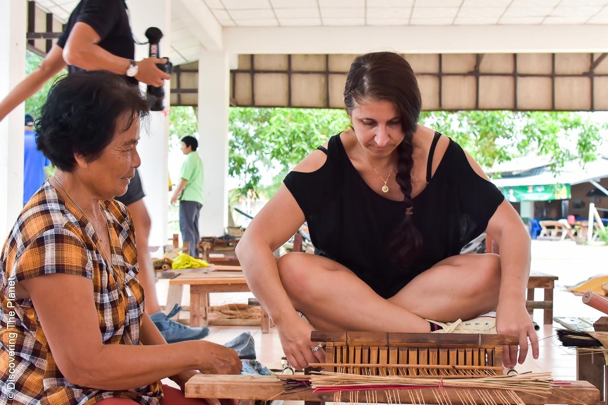 Thailand, Chantaburi, Mattvävning (17)