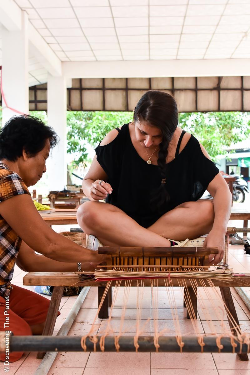 Thailand, Chantaburi, Mattvävning (18)