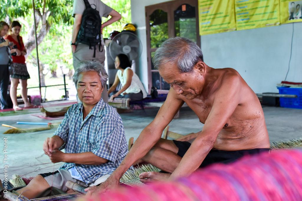 Thailand, Chantaburi, Mattvävning (7)