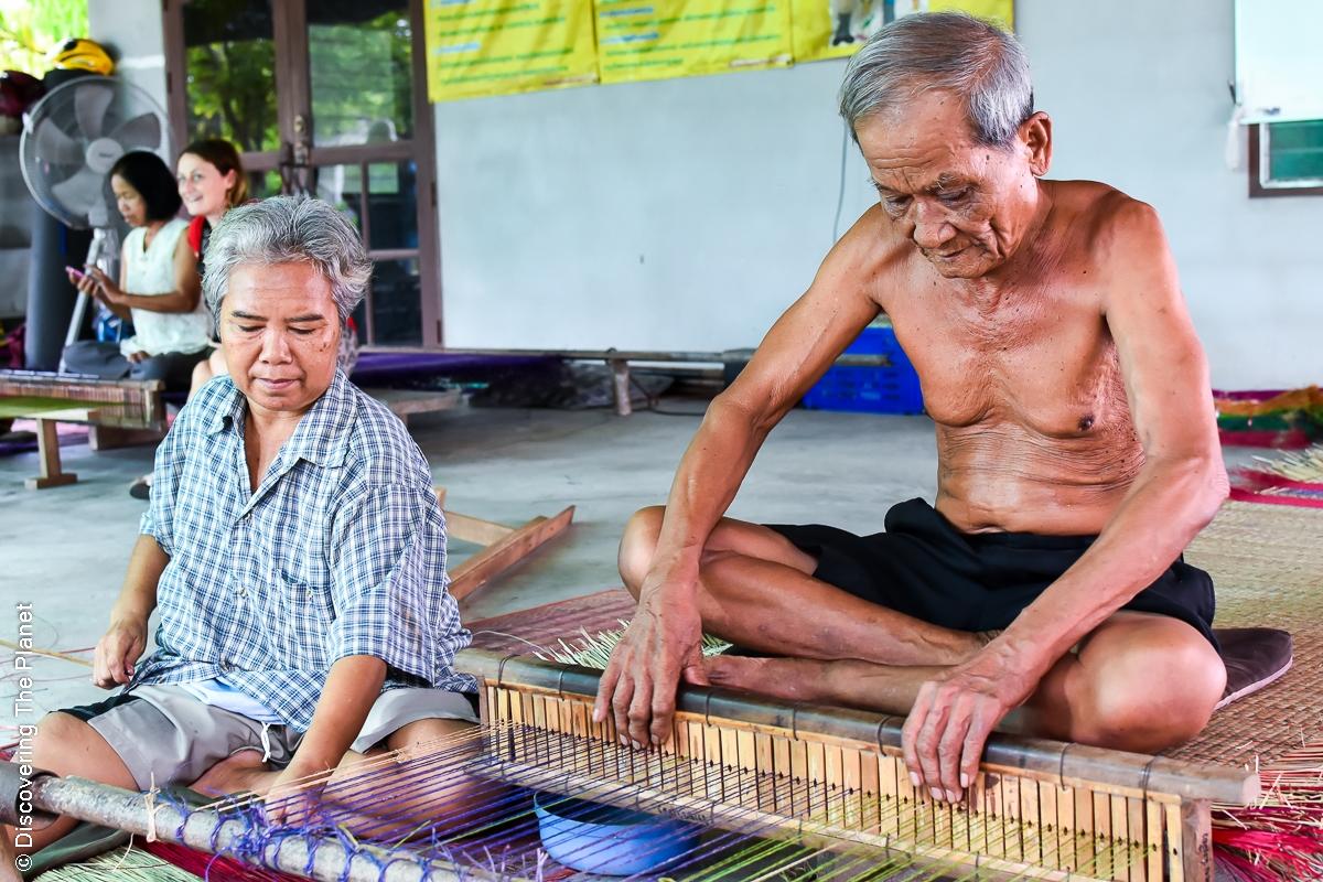 Thailand, Chantaburi, Mattvävning (8)