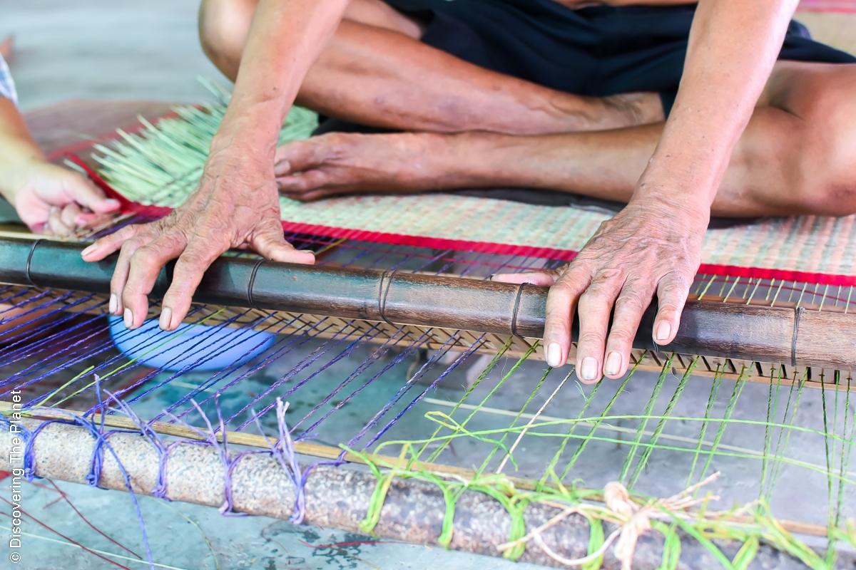 Thailand, Chantaburi, Mattvävning (9)