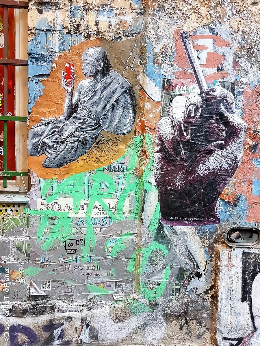 Tyskland, Berlin, Graffiti-4