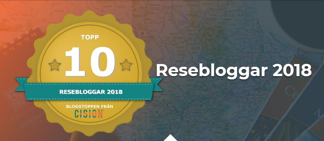 Sveriges bästa resebloggar, Cision