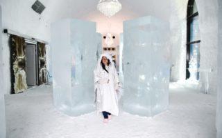Sverige, Lappland, Kiruna, Ice hotel