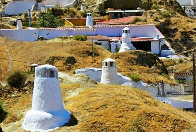Spanien, Guadix, grottbostäderna