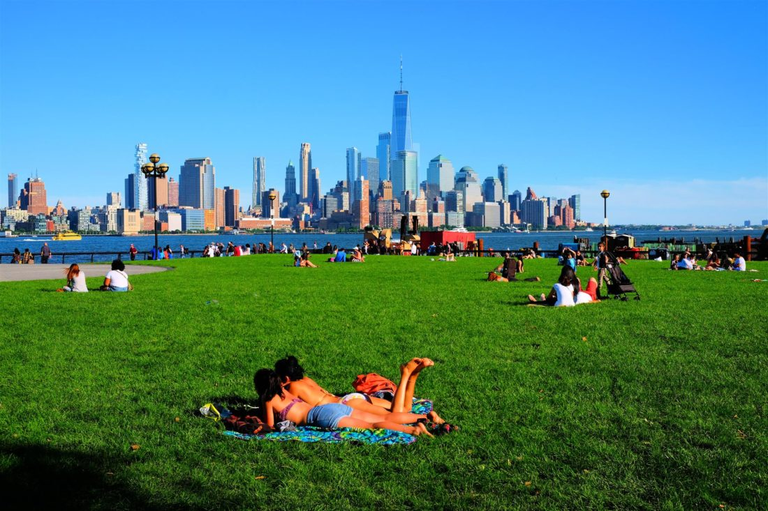 Usa, New York, sommarhetta