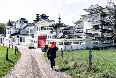 Yangtorp Sanctuary det Buddistiska Qigongtemplet mitt i den Skånska lövskogen