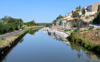 Frankrike, Languedoc, Canal du Midi, Paraza