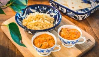 Det Indiska köket, indiskt bröd, och linsgryta dahl