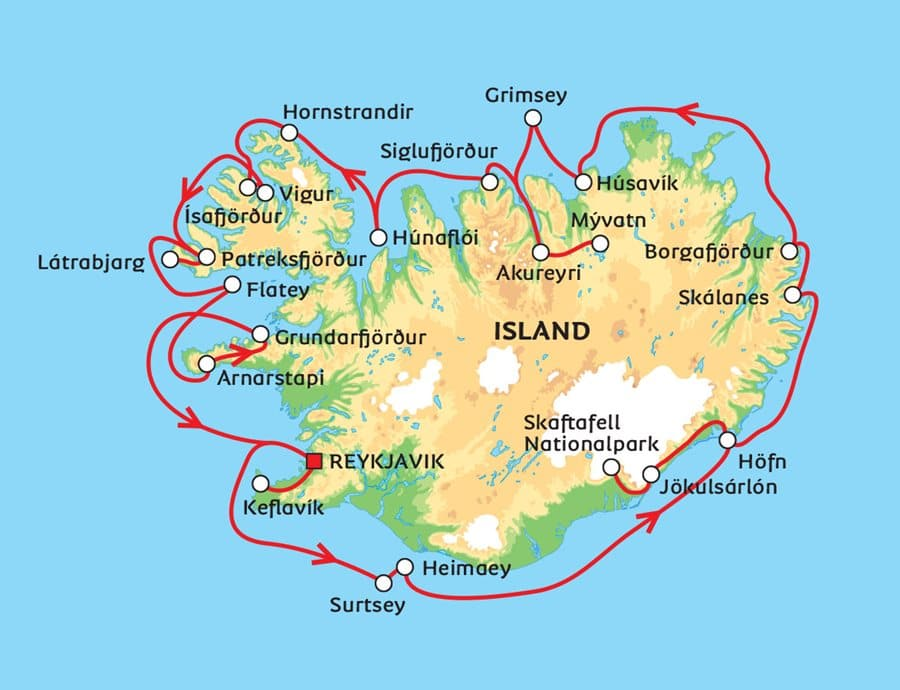 Island, karta