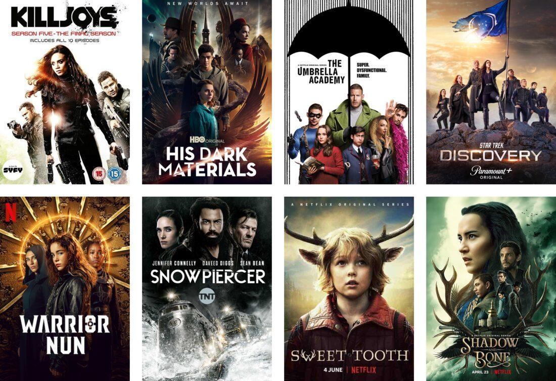 29 fantasy, äventyr och sciense fiction serier